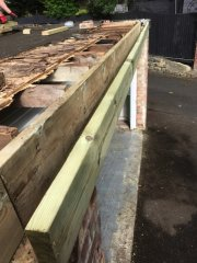 Refurbishing timber joist, facias & soffits